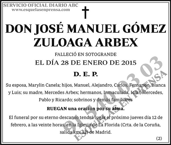 José Manuel Gómez Zuloaga Arbex